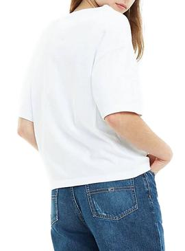 Camiseta Tommy Jeans Badge Blanco Mujer