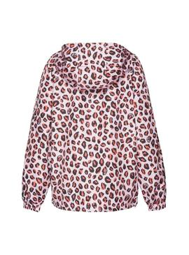 Canguro Tommy Jeans Leopard Print Rosa Mujer