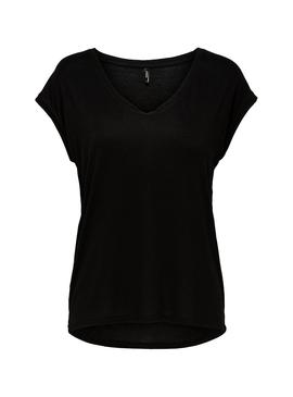 Camiseta Only Wilma Negro Mujer