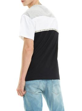 Camiseta Tommy Jeans Colorblocked Negro Hombre