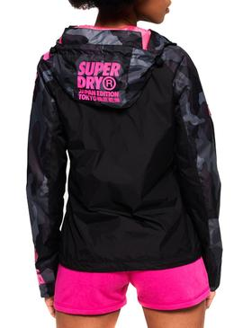 Cazadora Superdry Japan Edition Negro Mujer