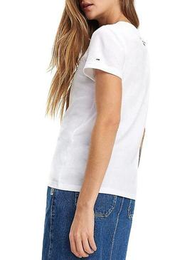 Camiseta TommyJeans Phrase Blanco Mujer