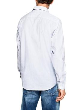 Camisa Pepe Jeans Dean Azul Hombre