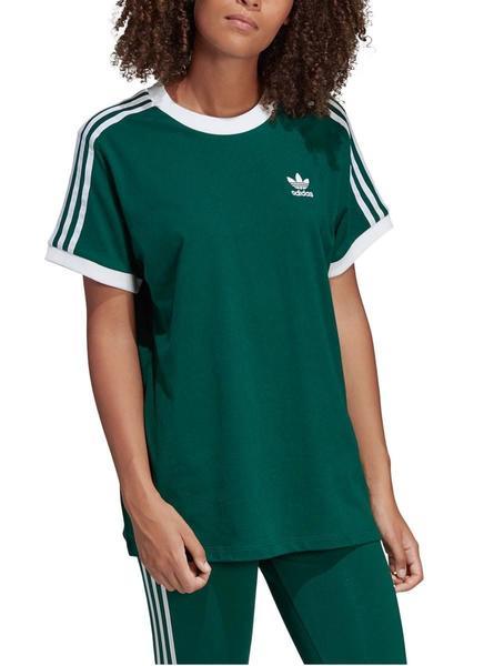 Camiseta Adidas 3 Stripes Verde para Mujer