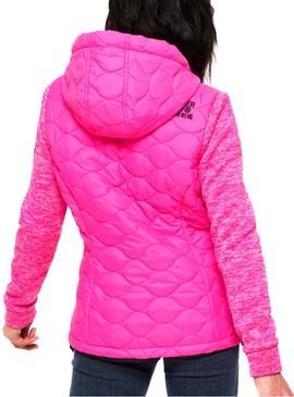 Chaqueta Superdry Storm Quilted Fucsia Mujer