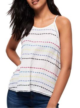 Top Superdry Ricky Blanco Mujer