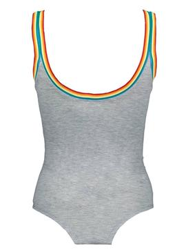 Body Only Rainbow Gris Mujer