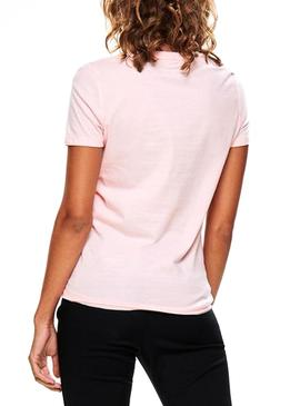 Camiseta Only Indre Print Rosa Mujer