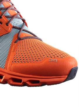 Zapatillas On running Cloud Stratus Naranja Hombre