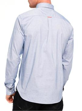 Camisa Superdry Oxford Azul Hombre