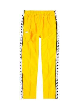 Pantalon Kappa Astoria Amarillo Mujer