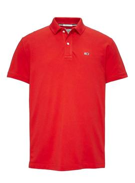 Polo Tommy Jeans Classics Solid Rojo Hombre