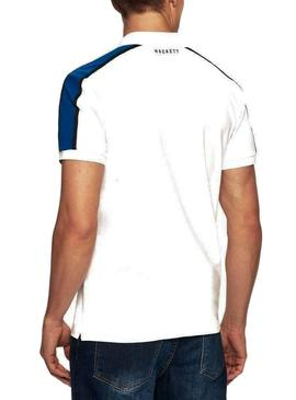 Polo Hackett AMR Panel Blanco Hombre