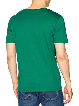 Camiseta Jack and Jones Oval Verde Hombre