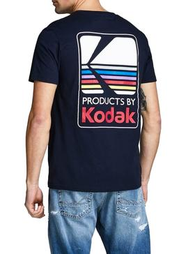 Camiseta Jack and Jones Nap Kodak Marino Hombre