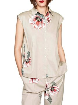 Camisa Pepe Jeans Valentina Beige Mujer