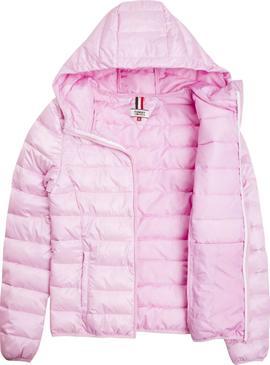 Cazadora Tommy Jeans Acolchada Rosa Mujer