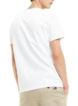 Camiseta Tommy Jeans Badge Blanco Hombre