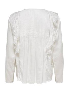 Blusa Only Amiria Blanco Mujer