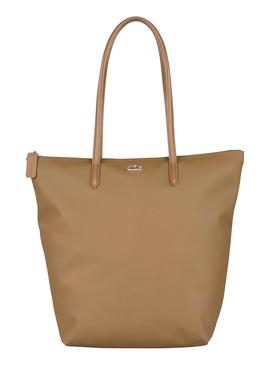 Bolso Lacoste L.12.12. Vertical Tostado Mujer