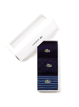 Pack Calcetines Lacoste Azul Para Hombre