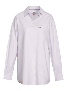 Camisa Tommy Jeans Rayas Rosa Mujer