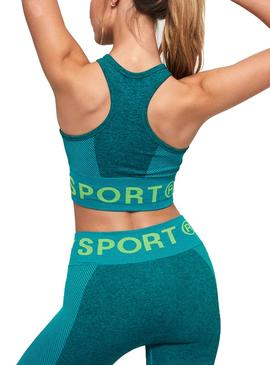 Top Superdry Active Seamless Verde Mujer