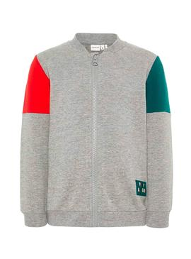 Sudadera Name It Lewis Gris Niño