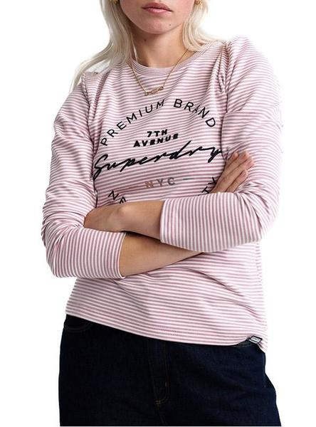 Camiseta Superdry Dunne Rosa Mujer
