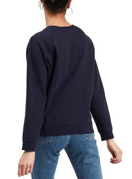 Sudadera Levis Relaxed Graphic Batwing Azul Mujer