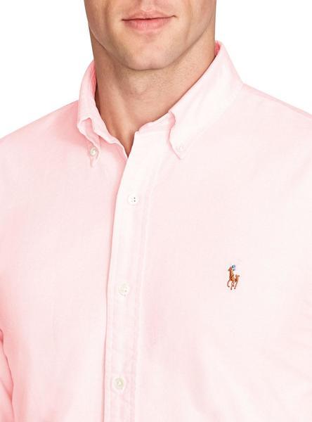 Camisa Polo Ralph Lauren Oxford Rosa Hombre