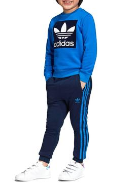 Acera arrebatar cache  Chandal Adidas Crew Set Azul Niño
