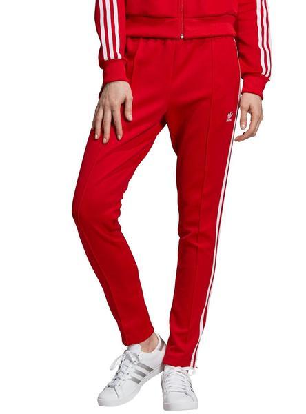 elige mejor precio más bajo con gran descuento venta Pantalon Adidas SST Rojo Para Mujer