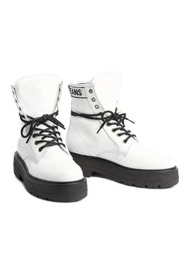Botas Tommy Jeans Foatform Blanco Charol Mujer