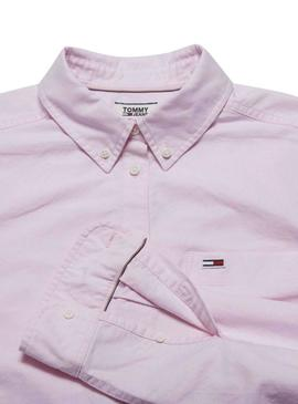 Camisa Tommy Jeans Clasico Roso Mujer