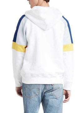 Sudadera Levis Relaxed Pieced Zip Blanco Hombre