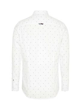 Camisa Tommy Jeans Disty Print Blanco Para Hombre