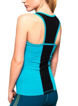 Top Superdry Active Mesh Panel Turquesa Mujer