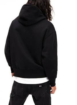 Sudadera Tommy Jeans Badge Hoodie Negro Hombre