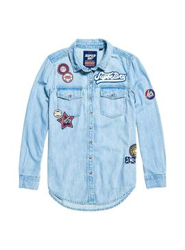 Camisa Superdry Badged Denim