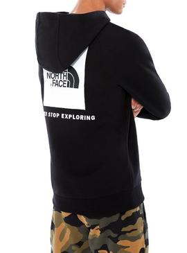 Sudadera The North Face Red Box Negro Hombre