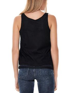 Top Only Party Mesh Negro Mujer