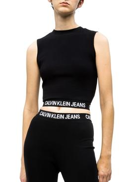 Top Calvin Klein Jeans Milano Negro Mujer