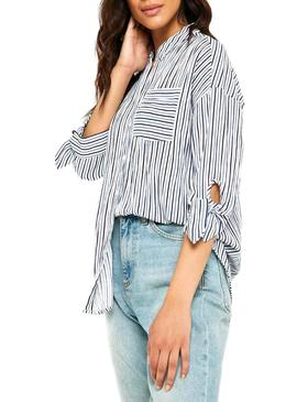 Camisa Only Lillo Azul Mujer
