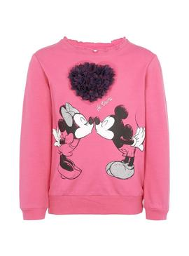 Sudadera Name It Minnie Olivia Rosa Para Niña