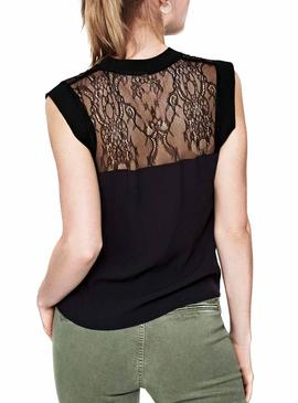 Top Pepe Jeans Diana Negro Mujer