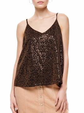 Top Only Duna Chocolate para Mujer