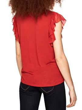 Top Pepe Jeans Auteuil Rojo Mujer