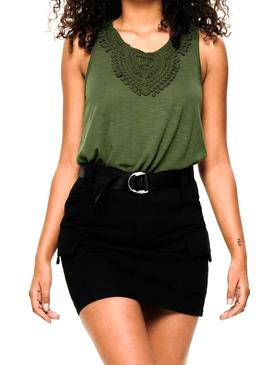 Top Only Sa Verde Mujer