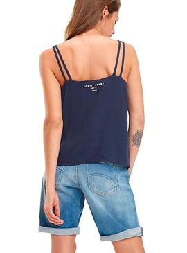 Top Tommy Jeans Strap Marino Mujer